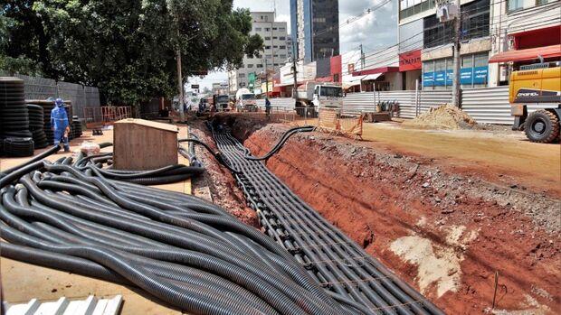 Interdição da Avenida Afonso Pena com a Rua 14 de Julho deve durar 45 dias em cada pista
