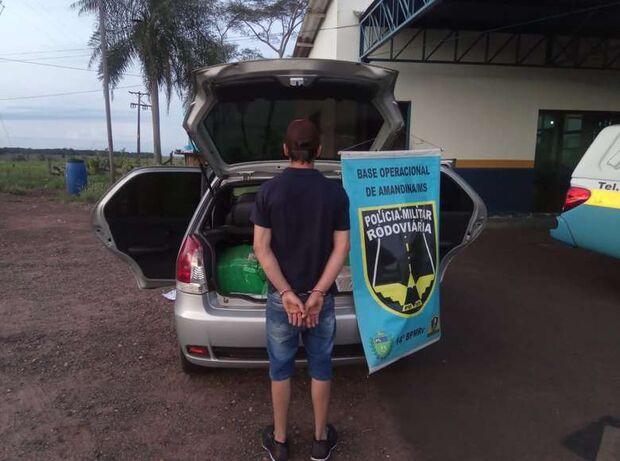 Rapaz é preso em flagrante ao transportar drogas de MS para SP