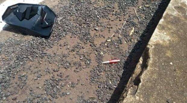 Motociclista morre após ter crânio perfurado por caneta