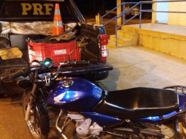 Em abordagem feita pela PRF, motociclista foge e abandona veículo com 54 kg de cobre na BR-163
