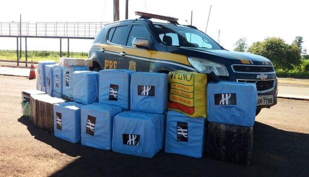 PRF apreende carro de luxo carregado com cocaína avaliada em R$47 milhões