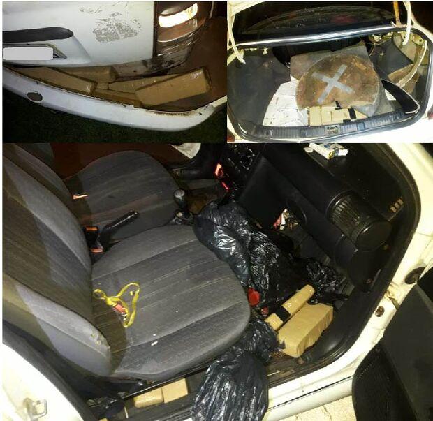 'Quarteto fantástico': PM apreende carro recheado de maconha e prende quatro por tráfico