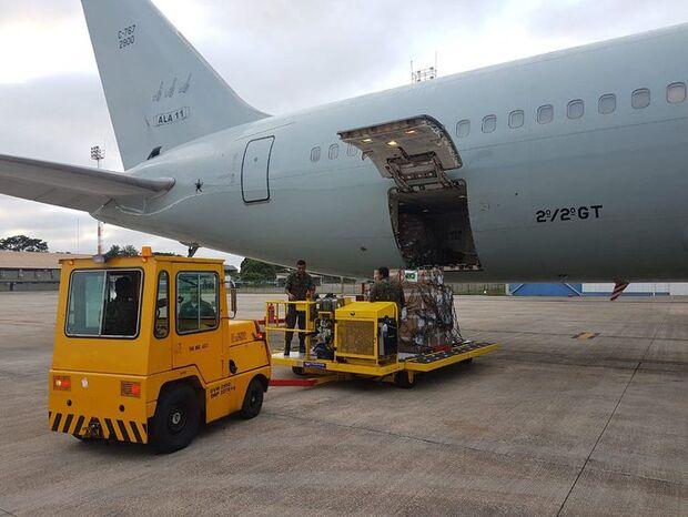 Avião da FAB com ajuda humanitária à Venezuela já está em Boa Vista