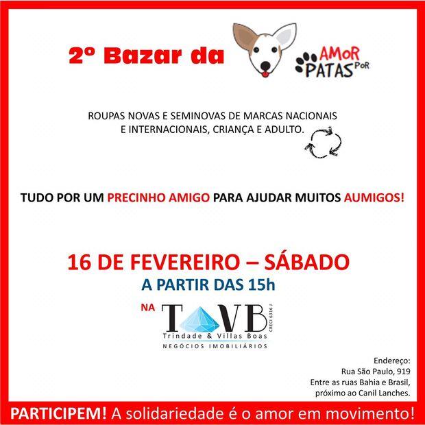 """""""AUmigos"""": Amor por Patas realiza 2° bazar em prol dos pets em Campo Grande"""