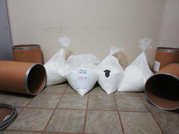 'Carga pesada': Polícia Militar flagra carregamento de cocaína pura em transportadora