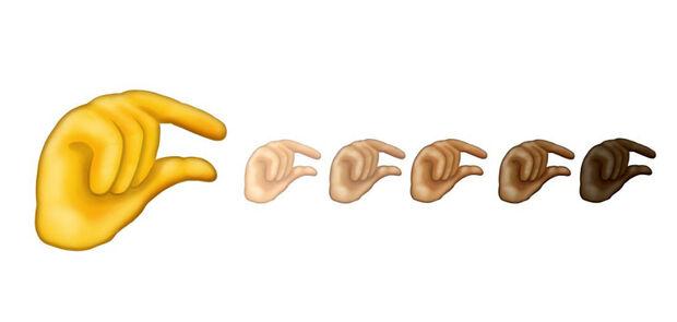 Novo emoji de 'pinça com a mão' vira alvo de piadas na web