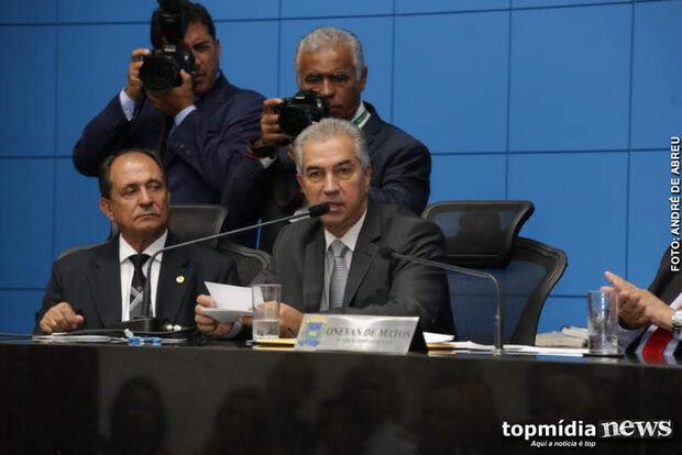 Governador revista tropa e participa da 1ª sessão da 11ª Legislatura no Palácio Guaicurus