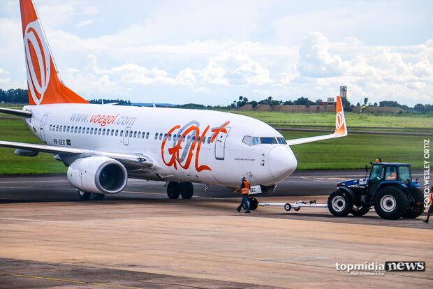 Aeroporto de Campo Grande tem quatro voos programados e opera sem restrições neste sábado