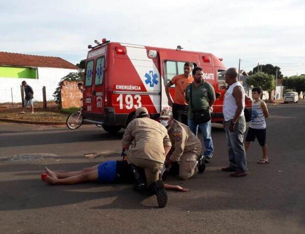 Mulher e criança ficam feridas em batida; motorista foge