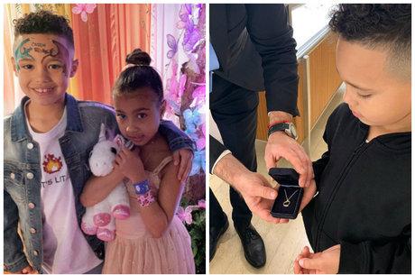Filha de Kim Kardashian de 5 anos ganha presente de namorado