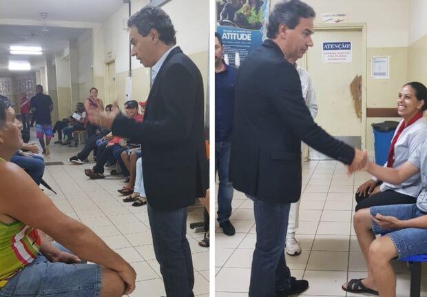 Prefeito faz nova visita surpresa em posto de saúde, dessa vez no Tiradentes
