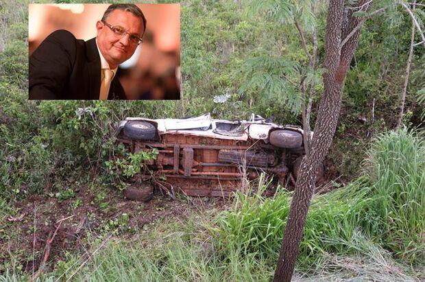 Produtor rural tomba caminhonete em barranco e morre na hora na BR-060