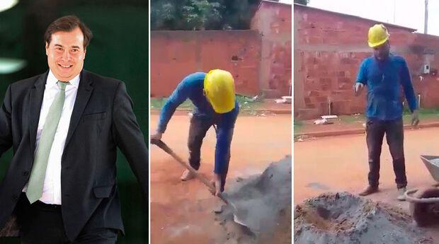 """Pedreiro desafia Rodrigo Maia: """"se aguentar 30 dias, abro mão da aposentadoria"""""""