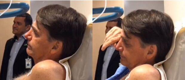 Bolsonaro se emociona com dupla ao ouvir 'Evidências' no hospital