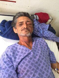 Ferido em assalto e internado na Santa Casa, homem procura por seus filhos