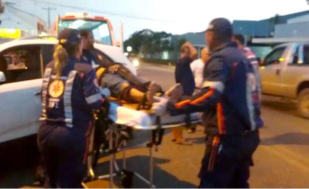 Acidente em cidade do MS deixa motociclista ferido