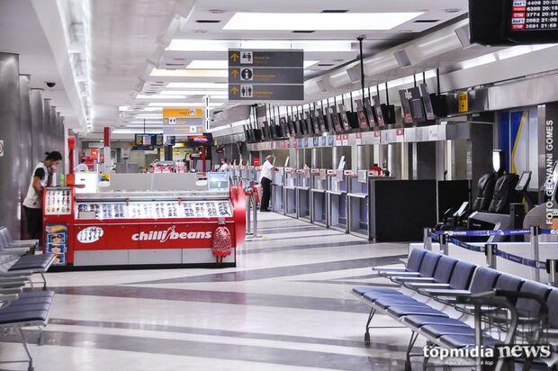 Aeroporto Internacional de Campo Grande opera sem restrições nesta terça-feira