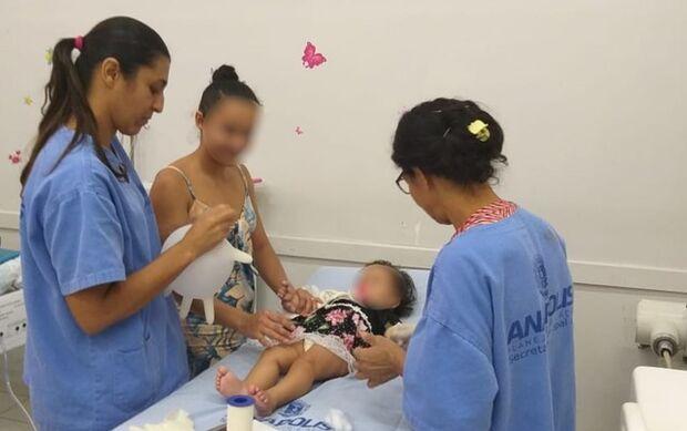 Polícia Militar socorre bebê que comeu sabão com soda cáustica