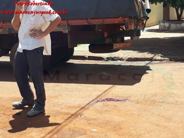 Motociclista bate em caminhão e morre em Maracaju