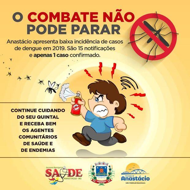 ANASTÁCIO: Boletim Epidemiológico aponta baixa incidência de dengue