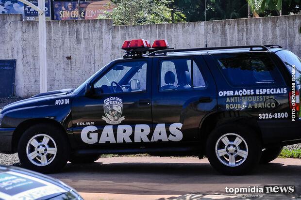 Garras faz operação contra assaltantes de banco em MS