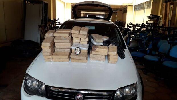 Pó pesado: quatro são presos com 84 kg de cocaína em MS