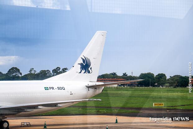 Aeroporto Internacional de Campo Grande opera sem restrições nesta segunda-feira