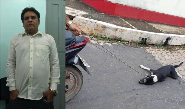 Motorista é preso por amarrar e arrastar cachorro pela rua