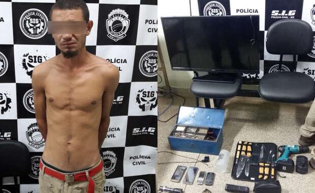 Suspeito é preso por quatro furtos recentes em cidade do MS