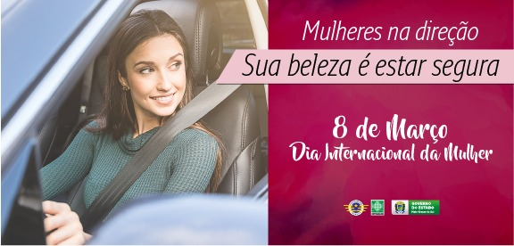Detran e PMs do Batalhão de Trânsito realizam ação de rua especial para o Dia das Mulheres