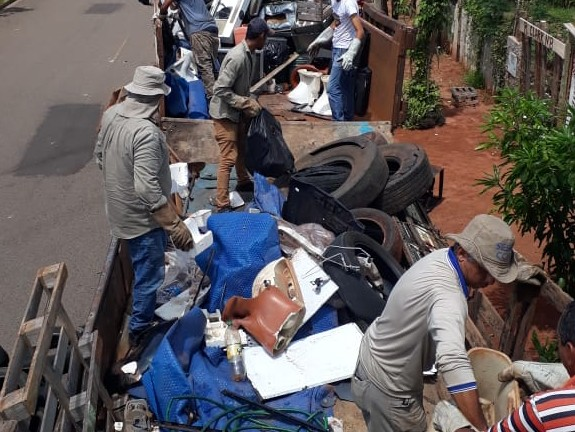 Em 2 dias, mobilização contra o Aedes recolheu mais de 3 toneladas de lixo