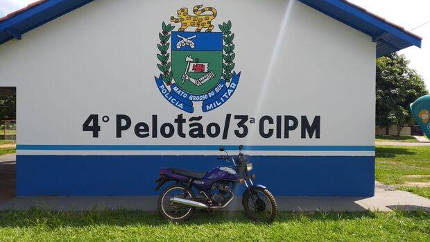 Polícia Militar apreende motocicleta com placa falsa em cidade do MS