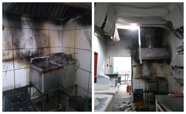 Fábrica de salgados pega fogo após explosão de fritadeira