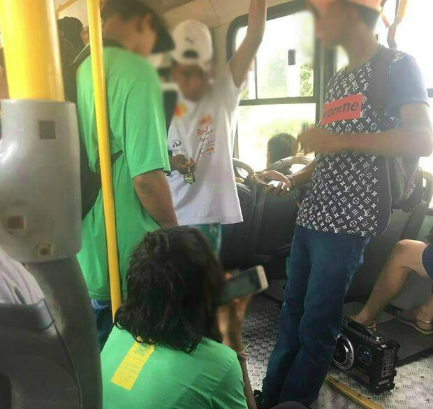 SEM EDUCAÇÃO: Lei é esquecida e adolescentes soltam funk 'proibidão' nos ônibus em Campo Grande