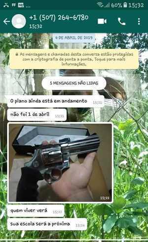 Alunos de escola em Brumadinho recebem ameaça pela internet