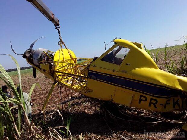 Não perdoam nada: ladrões furtam bateria de avião agrícola que caiu em fazenda