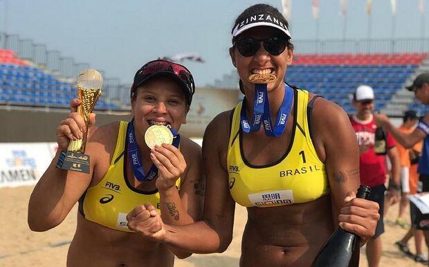 Ana Patrícia e Rebecca batem checas e conquistam etapa chinesa do vôlei de praia
