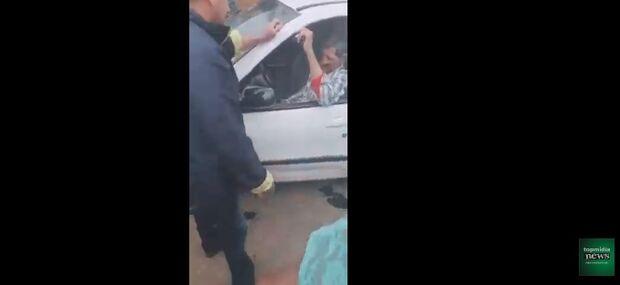 VÍDEO: motorista embriagado invade feira no Noroeste e pelo menos quatro ficam feridos