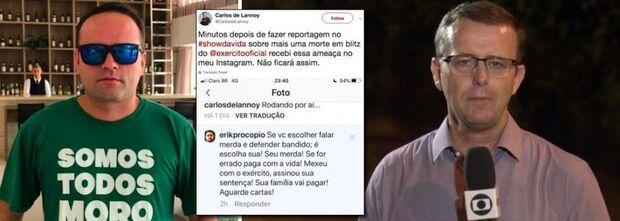 Homem que ameaçou jornalista da Globo é advogado e fã de Sérgio Moro