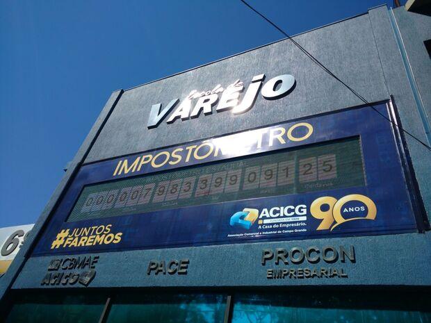 Impostômetro da ACICG registrou hoje a marca de R$ 700 bilhões pagos ao Governo Federal