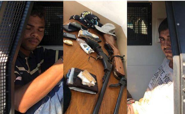 Trapalhões tentam meter o louco em assalto, mas são presos pela PM