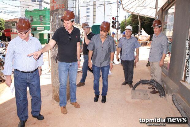 Vereadores visitam o 'Reviva Campo Grande' e dizem que obras serão antecipadas
