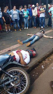VÍDEO: veja o momento que bandidos são mortos por policial de folga em MS