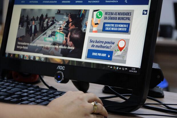 Câmara disponibiliza novo canal no site para população reivindicar melhorias