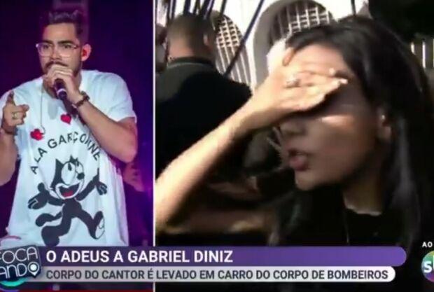 Repórter é furtada ao vivo durante velório de Gabriel Diniz