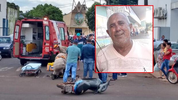 Motociclista ferido em acidente em frente à Caixa Econômica morre no hospital