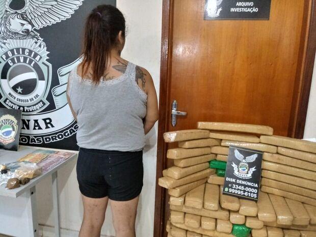 Mulher é presa com máquina de lavar recheada de droga em Campo Grande
