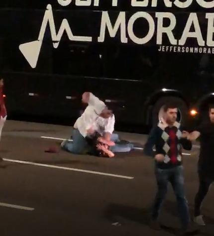 VÍDEO: saída de show termina com pancadaria em Campo Grande