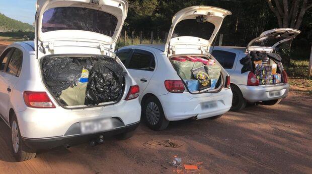 Trio é preso com mercadorias contrabandeadas do Paraguai