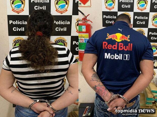 Casal é preso vendendo drogas próximo de escola em Campo Grande